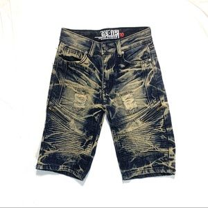 HP 2/9/21 GS-115 Boys Size 10 Acid Wash Moto Jean